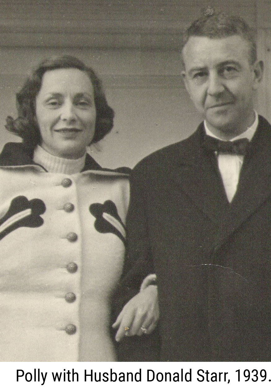 Polly with her Husband Donald Starr, 1939